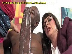 Cougar Mom Strip And Fuck Big Black Cock