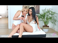 Photo Gals by Sapphic Erotica - Kyra Queen and Brittany Bardot take pictures of