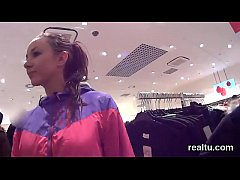 Exceptional czech kitten gets seduced in the supermarket and poked in pov