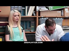 Shoplyfter - Blonde Teen Thief Fucked While Dad Watches