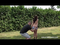 Czech bitch Katy Rose fucked in the garden. This sexy babe with a perfect body will make every man happy