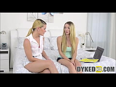 Two Teen Girl Roommates Fuck On Webcam For Rent Money
