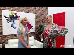 Hot babe Elsa Jean is interviewed and crowned Cherry of the Year