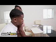 bangbros - young black stud bangs his tutor during study session