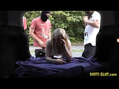 Slutwife Nikki gang fucked by many strangers