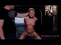 Blonde got slave training on sybian