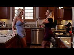 Amazing American blondes have lesbian fun after some massage