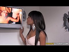 Ebony Tila Flame Squirts On Strangers Cock at Gloryhole