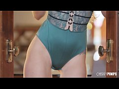 Elsa Jean Is The Cherry of the Year Hot in Green Lingerie