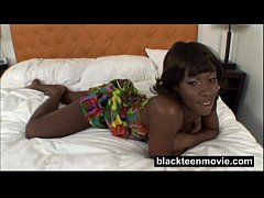 Young black teen rides white dick in ebony amateur video