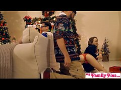 Horny Sisters Get Brothers Cock For Xmas S1