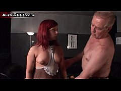 Horny redhead slut takes her clothes off