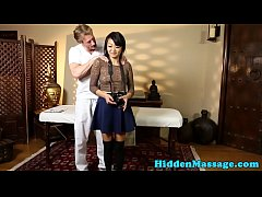 Sweet asian fucked in missionary by masseur