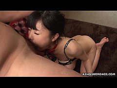Mika Shindo likes to get throatfucked while on a leash