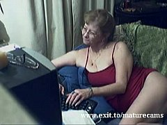 Granny Esther cumming for her camfriend