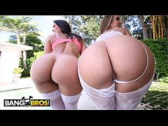 BANGBROS - Big Booty Pornstars Rachel Starr and Nikki Stone Getting Smashed!