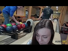 HUNT4K. Couple is tired of bowling, guy wants money, chick wants sex