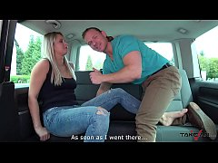 Really bad dirty speaking blonde teacher fucked in van by stranger