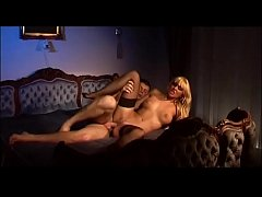 Hot blonde in black stockings banged in the ass