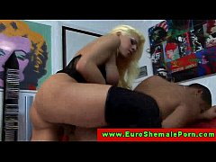 Euro tranny shemale ass pounding dude