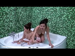 Perfect homemade lesbian's in the jacuzzi
