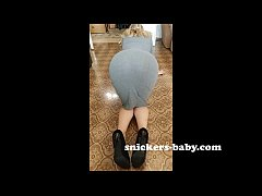 Big ass teen hot sexy girl homemade hot wife Tight long dress for lady Snickers baby