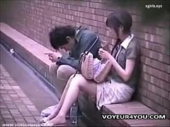 Two Japanese Couples Fucking Outdoor
