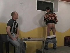 Sexy hunks cock sucking and ass fucking threesome