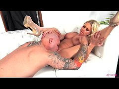 Katie Morgan sucking and riding a hard dick