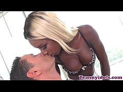 Nubian ts rimmed and anally pounded