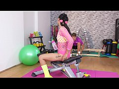 Fitness Rooms Hot Thai babe gets deep anal creampie workout from big cock