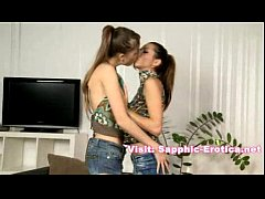 Two pretty lesbians fucking after long kissinglike lovers do