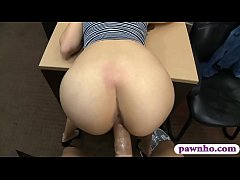Kinky babe rammed by horny pawn keeper at the pawnshop