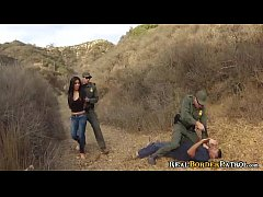 Border Patrol Blackmails Illegal Hispanic Teenie