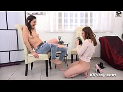 VIPissy - Antonia Sainz and Miky Love enjoy lesbian pissing session together