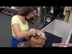 Sexy brunette woman banged by pawn dude at the pawnshop