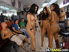 Barbershop Orgy with Olivia O'Lovely, Jenaveve Jolie & Lacey Duvalle 1.09
