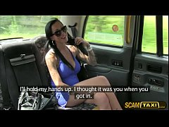 big tits chantelle gets pussy pounded by the pervy cab driver in the backseat