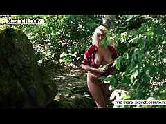 Country cowboy girl showing tits and pussy! Country style - XCZECH.COM
