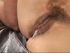 Blonde milf gets her hairy pussy fucked