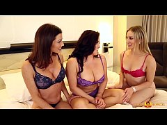 Nikki Phoenix, Riley Reyes, and Lynn Vega in a Hot Lesbian Threesome