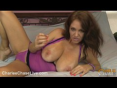 Horny MILF Charlee Chase makes her wet pussy cum!