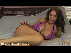 Horny MILF Charlee Chase makes her wet pu ...