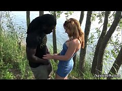Fluechtling mit Monster Schwanz fickt Teeny mitten am Strand - German Redhead Teen Fuck by Monster Black Dick Public