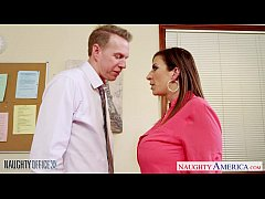 Brunette milf Sara Jay fucking in the office