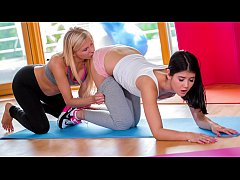 RELAXXXED - Czech lesbos Lady Dee and Vanessa Staylon girl on girl action at the gym