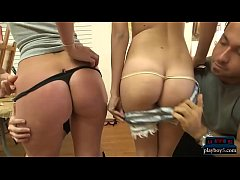 Teen with good ass fucked hard for money in body paint class