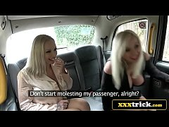 Busty Blonde Bimbos In Filthy Taxi 3some - Michelle Thorne, Sophie Anderson