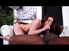 Kendra Lust sucks massive black dick of Mandingo
