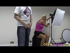 HD Blonde cfnm brit strokes